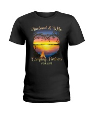 Husband And Wife Camping Partners For Life Ladies T-Shirt thumbnail