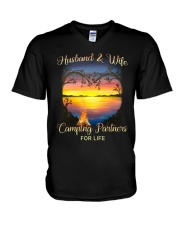 Husband And Wife Camping Partners For Life V-Neck T-Shirt thumbnail