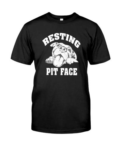 Resting Pit Face Funny Pitbull