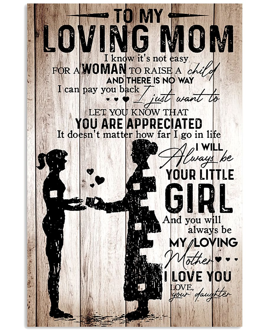 To My Mom 2 24x36 Poster