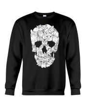Love Cats and Skull Crewneck Sweatshirt thumbnail