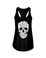 Love Cats and Skull Ladies Flowy Tank thumbnail