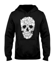 Love Cats and Skull Hooded Sweatshirt front