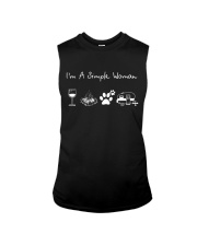 I'm A Simple Woman Wine Dogs Camping Sleeveless Tee thumbnail