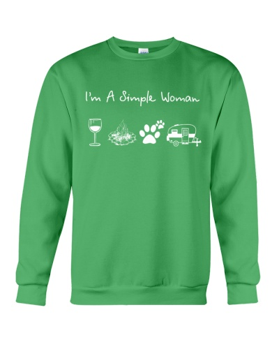 I'm A Simple Woman Wine Dogs Camping
