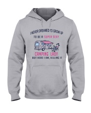Super Sexy Camping Lady Hooded Sweatshirt front