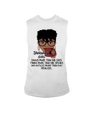 January Girl Knows More Than She Says Sleeveless Tee tile