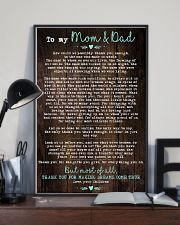 To My Mom Dad Wood 11x17 Poster lifestyle-poster-2