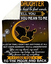 "To My Daughter Sometimes It's Hard To Find Words Large Sherpa Fleece Blanket - 60"" x 80"" thumbnail"
