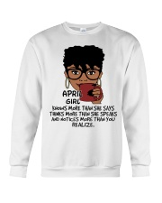 April Girl Knows More Than She Says Crewneck Sweatshirt thumbnail