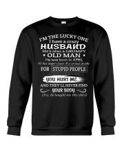I'm The Lucky One I Have A Crazy Husband Crewneck Sweatshirt thumbnail