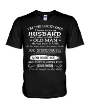 I'm The Lucky One I Have A Crazy Husband V-Neck T-Shirt thumbnail