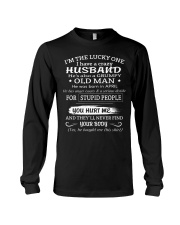 I'm The Lucky One I Have A Crazy Husband Long Sleeve Tee thumbnail