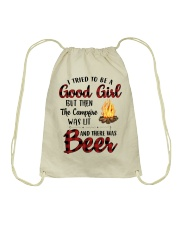 I Try To Be Good Girl Drawstring Bag thumbnail