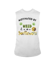 Motivated By Weed And Sunflowers Sleeveless Tee thumbnail