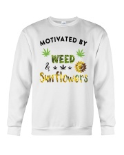 Motivated By Weed And Sunflowers Crewneck Sweatshirt thumbnail