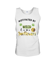 Motivated By Weed And Sunflowers Unisex Tank thumbnail