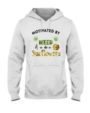 Motivated By Weed And Sunflowers Hooded Sweatshirt thumbnail