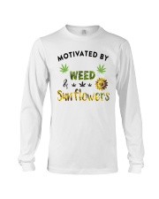 Motivated By Weed And Sunflowers Long Sleeve Tee thumbnail