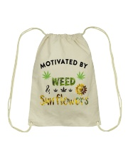 Motivated By Weed And Sunflowers Drawstring Bag thumbnail