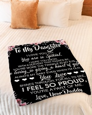"To My Daughter I Love You So You Are So Special Small Fleece Blanket - 30"" x 40"" aos-coral-fleece-blanket-30x40-lifestyle-front-01"