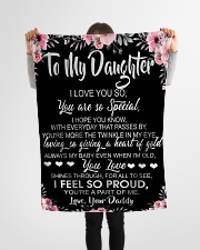 "To My Daughter I Love You So You Are So Special Small Fleece Blanket - 30"" x 40"" aos-coral-fleece-blanket-30x40-lifestyle-front-14"