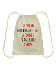 Redhead Girl Not Fraglile Like A Flower Drawstring Bag thumbnail