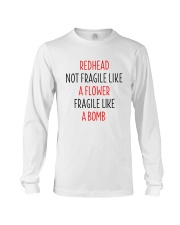 Redhead Girl Not Fraglile Like A Flower Long Sleeve Tee thumbnail