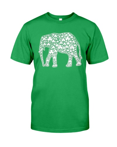 Green Irish Elephant Shamrock Patricks