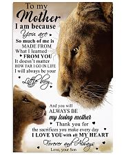To My Mother Little Boy Son Lion Poster 11x17 Poster front