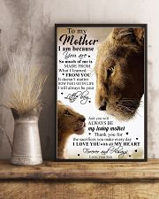 To My Mother Little Boy Son Lion Poster 11x17 Poster lifestyle-poster-3