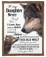 """To My Daughter Dad Wolf Small Fleece Blanket - 30"""" x 40"""" front"""