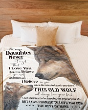 "To My Daughter Dad Wolf Large Fleece Blanket - 60"" x 80"" aos-coral-fleece-blanket-60x80-lifestyle-front-02"
