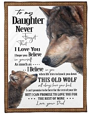 "To My Daughter Dad Wolf Large Fleece Blanket - 60"" x 80"" front"