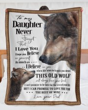 """To My Daughter Dad Wolf Large Sherpa Fleece Blanket - 60"""" x 80"""" aos-sherpa-fleece-blanket-60x80-lifestyle-front-23"""