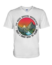 I've Been Moving Mountains That I Once Had ToClimb V-Neck T-Shirt thumbnail