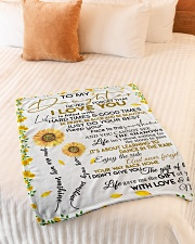 """To My Daughter Never Forget That I Love You Small Fleece Blanket - 30"""" x 40"""" aos-coral-fleece-blanket-30x40-lifestyle-front-01"""