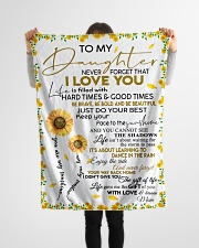 """To My Daughter Never Forget That I Love You Small Fleece Blanket - 30"""" x 40"""" aos-coral-fleece-blanket-30x40-lifestyle-front-14"""