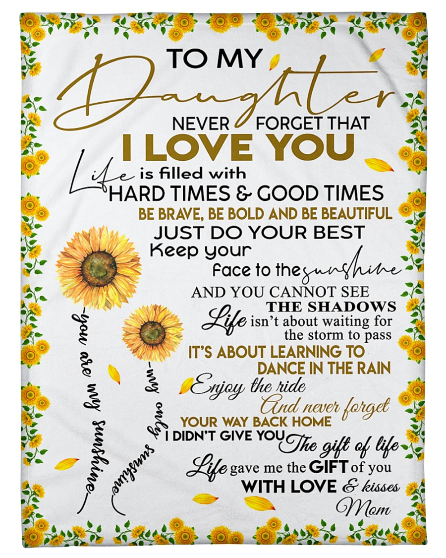 """To My Daughter Never Forget That I Love You Small Fleece Blanket - 30"""" x 40"""""""
