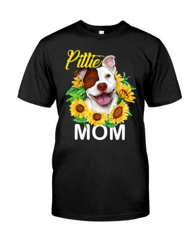 PITBULL PITTIE MOM SUNFLOWER