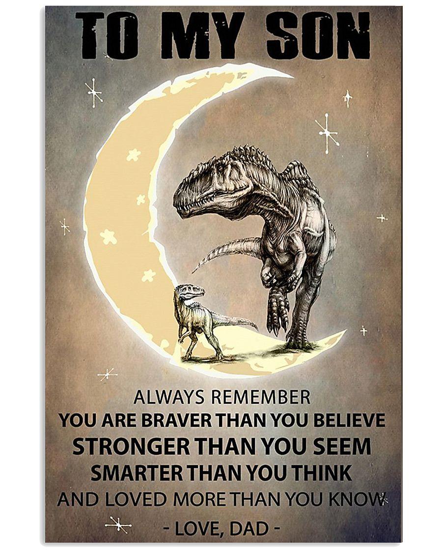 CUSTOMIZABLE T-REX POSTER - DAD TO SON - YO 11x17 Poster