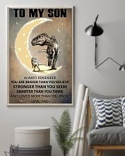 CUSTOMIZABLE T-REX POSTER - DAD TO SON - YO 11x17 Poster lifestyle-poster-1