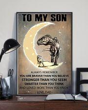 CUSTOMIZABLE T-REX POSTER - DAD TO SON - YO 11x17 Poster lifestyle-poster-2