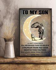 CUSTOMIZABLE T-REX POSTER - DAD TO SON - YO 11x17 Poster lifestyle-poster-3