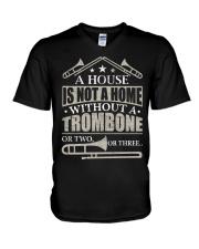 A House Without A Trombone V-Neck T-Shirt thumbnail