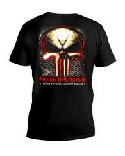 Press-operates V-Neck T-Shirt thumbnail