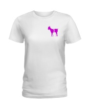Goats purple Ladies T-Shirt thumbnail