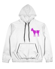 Goats purple Women's All Over Print Hoodie thumbnail