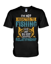 I'M NOT ADDICTED TO FISHING JUST WE ARE-01 V-Neck T-Shirt thumbnail