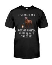 Rhodesian Ridgeback Coffee and Naps Classic T-Shirt front